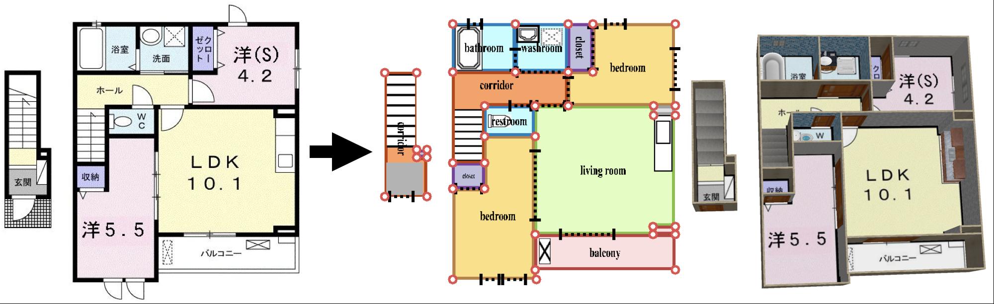 2000x612 Raster To Vector Revisiting Floorplan Transformation