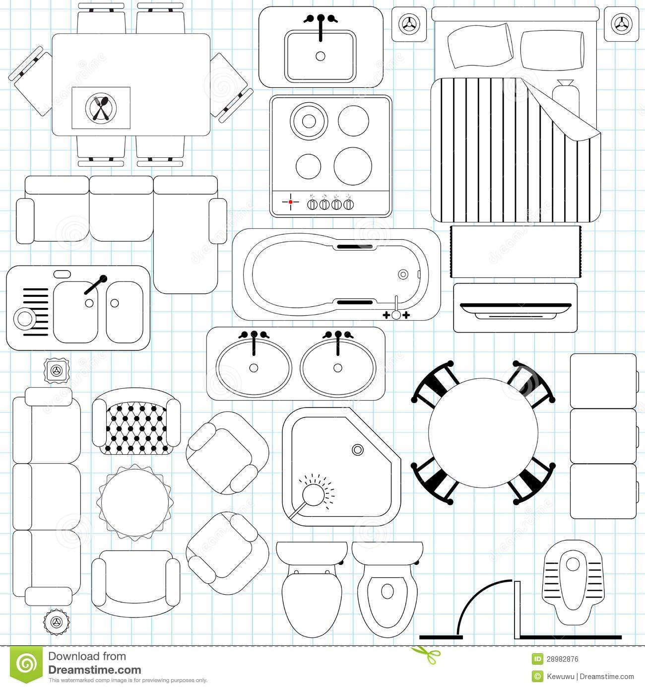 1300x1390 Simple Furniture Floor Plan