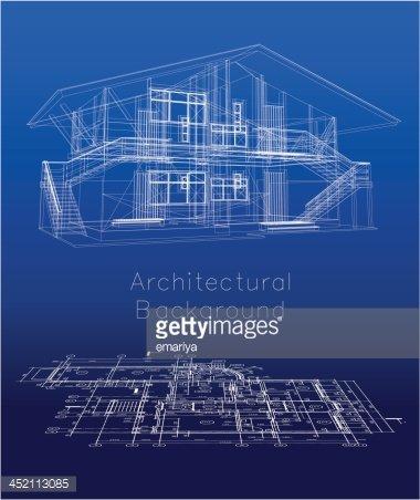 380x452 Stylized House Model With Floor Vector Stock Vectors