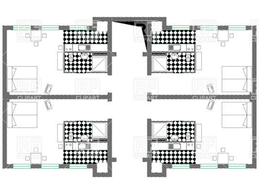 533x400 Apartment Or Hotel Floor Plan