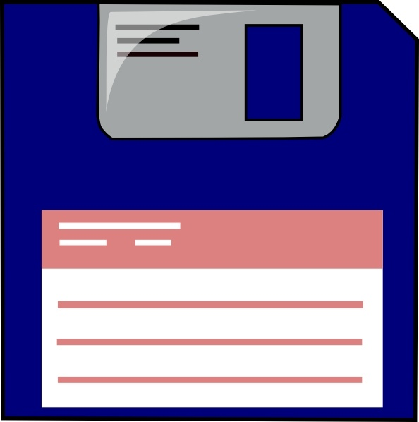 594x598 Floppy Disk Clip Art Free Vector In Open Office Drawing Svg ( .svg