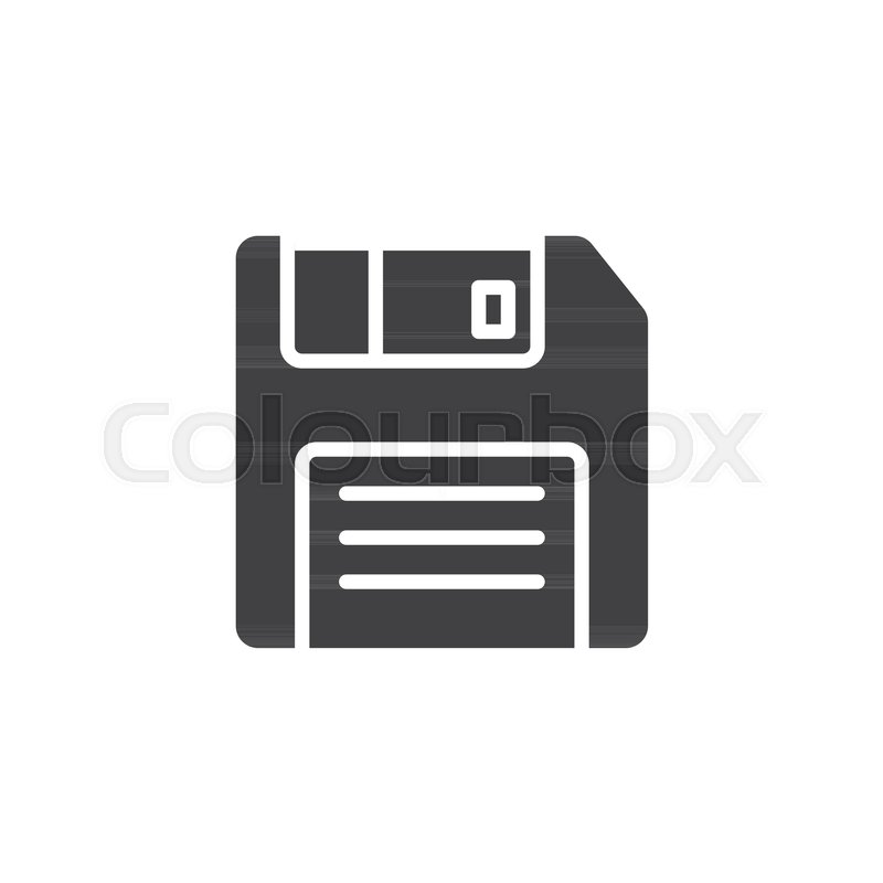 800x800 Floppy Disc Icon Vector, Filled Flat Sign, Solid Pictogram