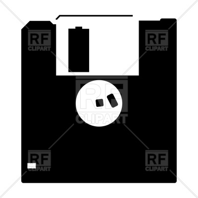 400x400 Floppy Disk Black Icon Vector Image Vector Artwork Of Icons And