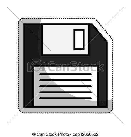 450x470 Floppy Disk Isolated Icon Vector Illustration Design Clip Art
