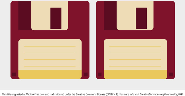 600x314 Floppy Disk Vector Free Vector In Adobe Illustrator Ai ( .ai