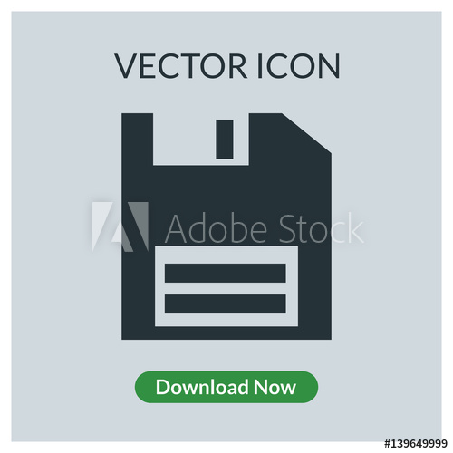 500x500 Floppy Disk Vector Icon