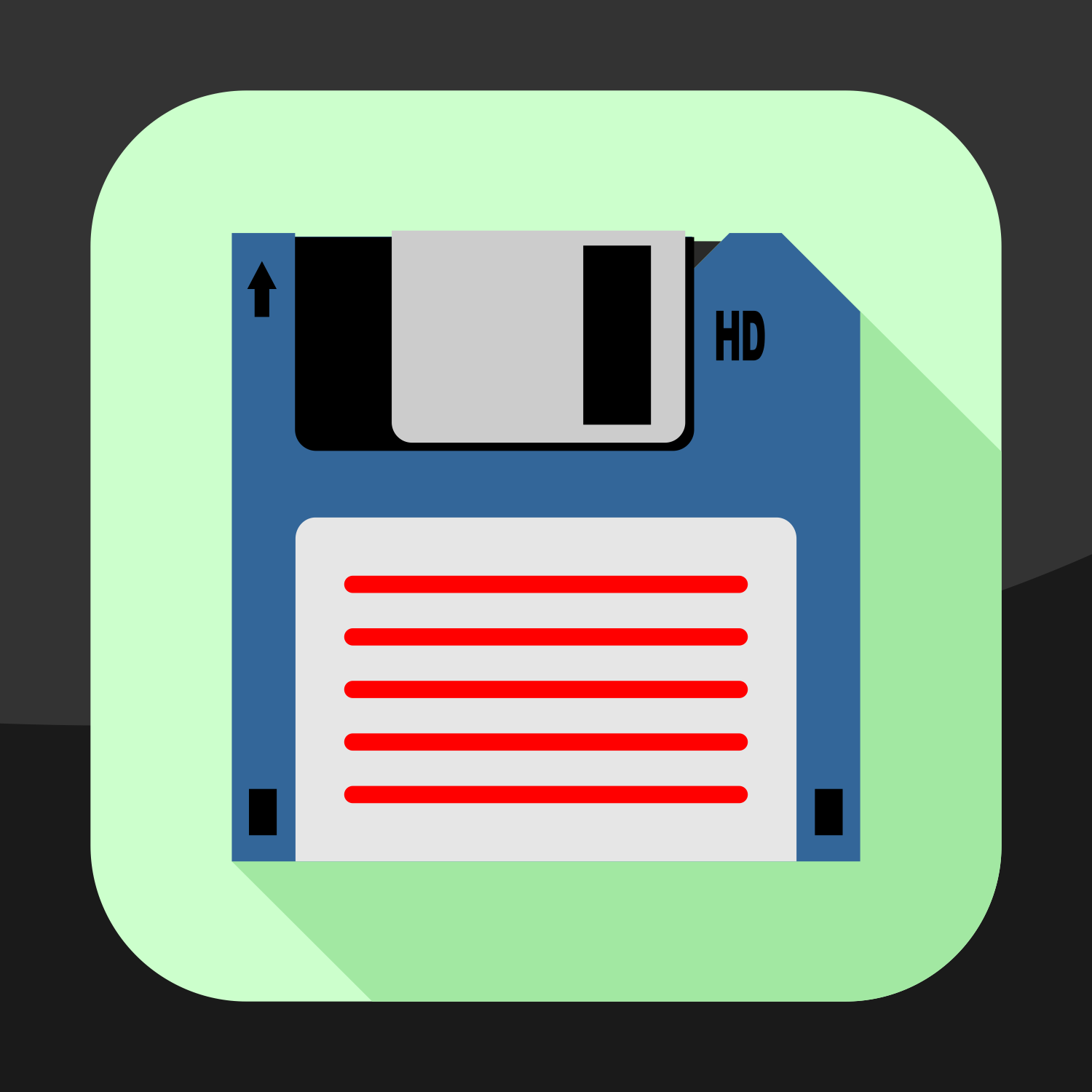 1500x1500 Vector For Free Use Flat Floppy Disk Icon