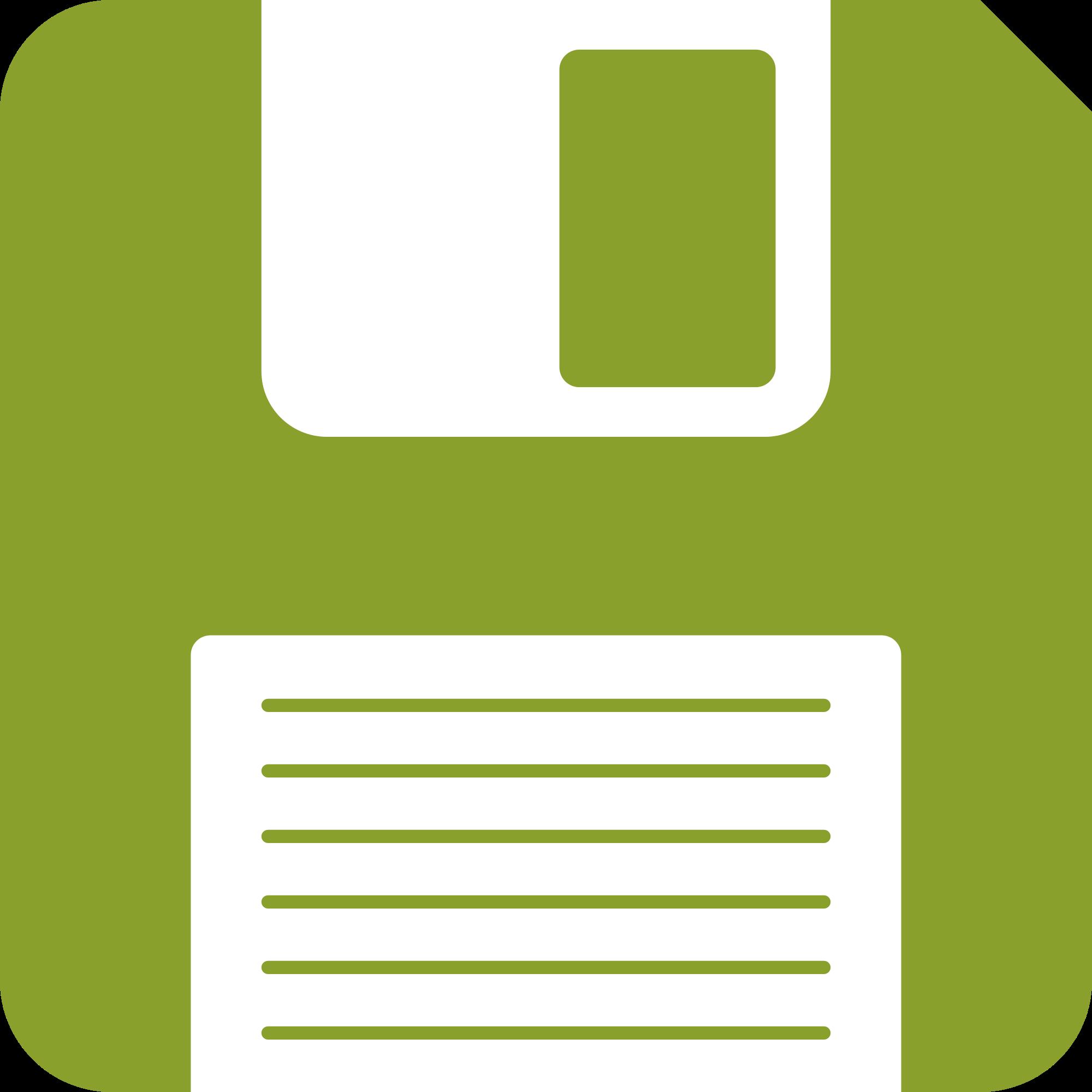 2000x2000 Filegreen Floppy Disk Graphic Svg.svg