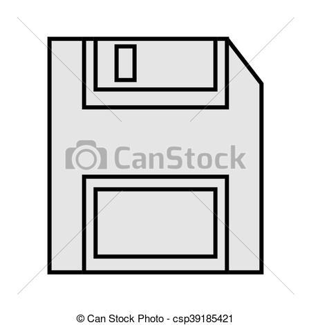 450x470 Flat Design Floppy Disk Icon Vector Illustration.