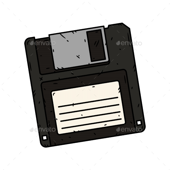 590x590 Floppy Disk Vector On A White Background By Selivanoffart