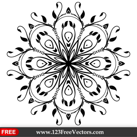 456x456 Free Ornate Floral Design Element Vector Art Clipart And Vector