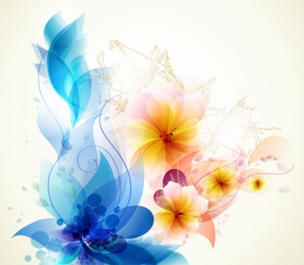 600x523 Lovely Abstract Floral Art Vector Background