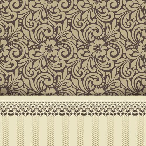 500x500 Ornate Vintage Floral Art Backgrounds Vector 10 Free Download