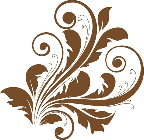487x472 Vector Decorative Floral Design Free Vector In Encapsulated