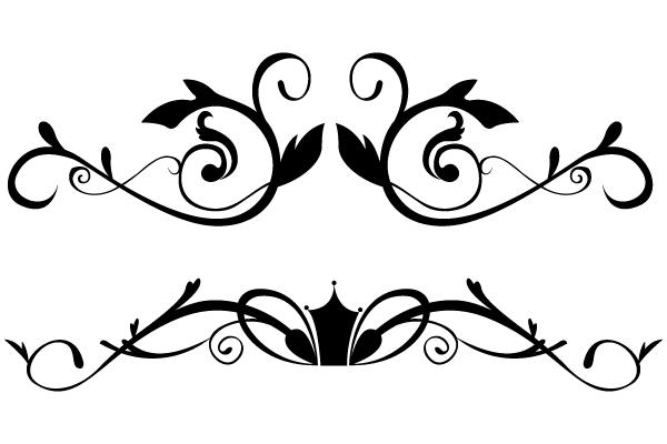 600x400 Vector Floral Ornamental Border Clip Art In 2018 Designs