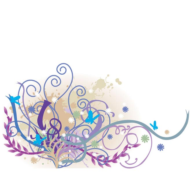 660x660 Vector Colorful Floral Art By Cgvector