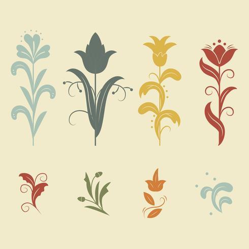 490x490 Floral Art Nouveau Vector
