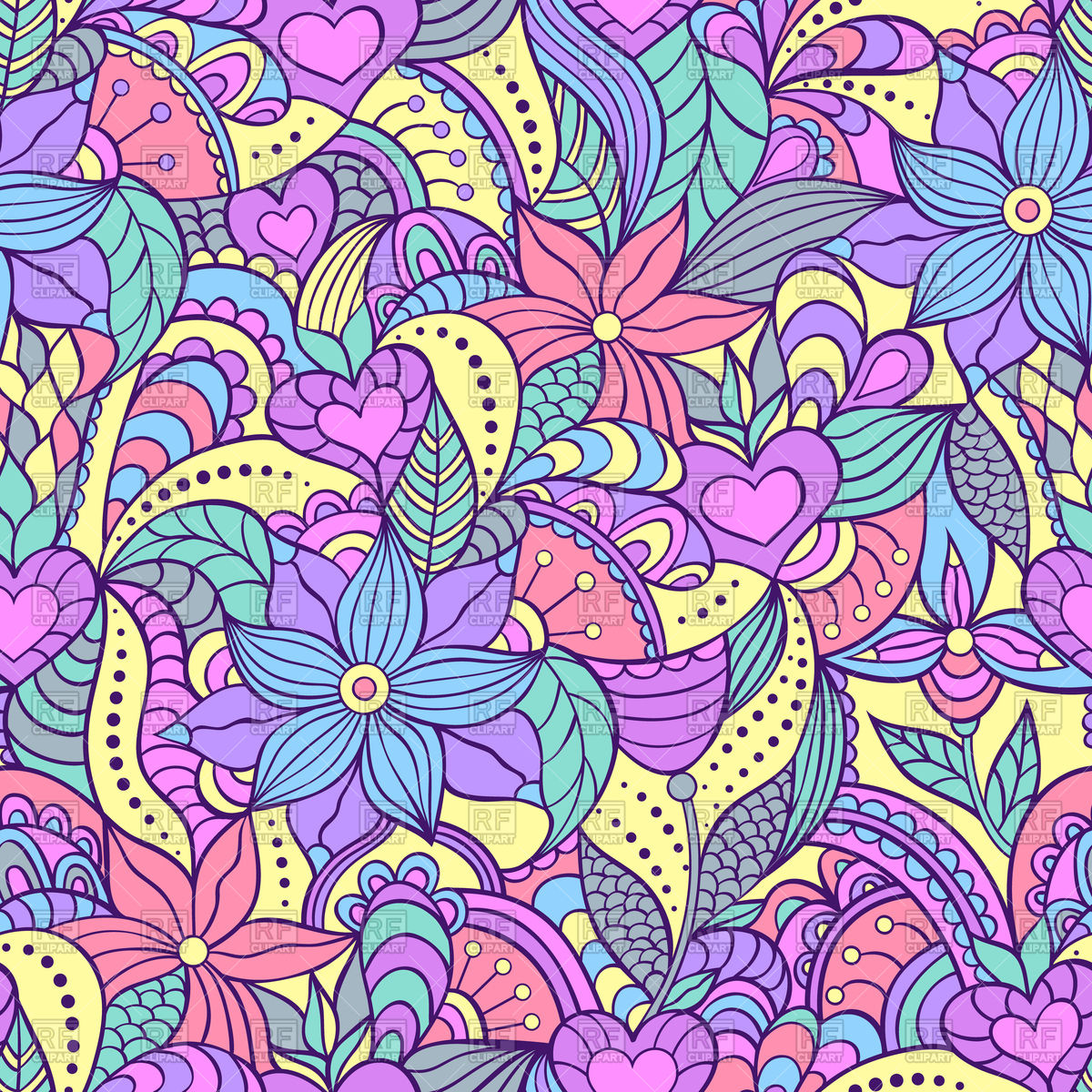 Floral Background Vector At Getdrawings Free Download