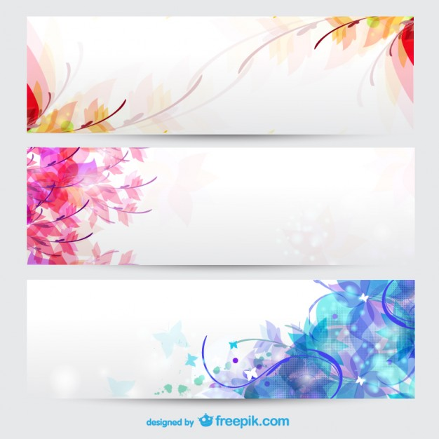 626x626 Floral Seasons Background Banners Vector Free Download