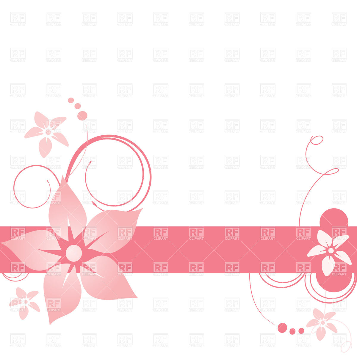 1200x1200 Simple Floral Banner With Curls Vector Image Vector Artwork Of