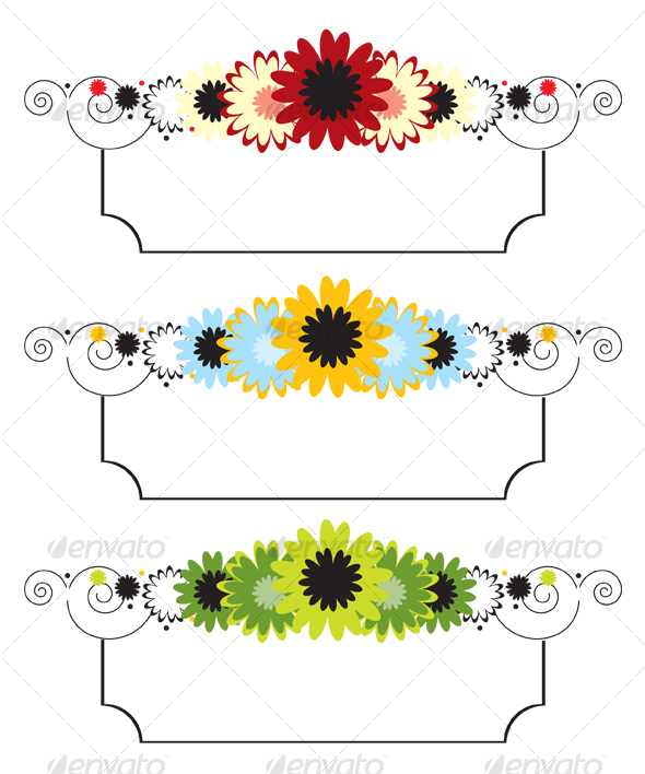 590x708 Vector Floral Banner By Tkdesign10 Graphicriver