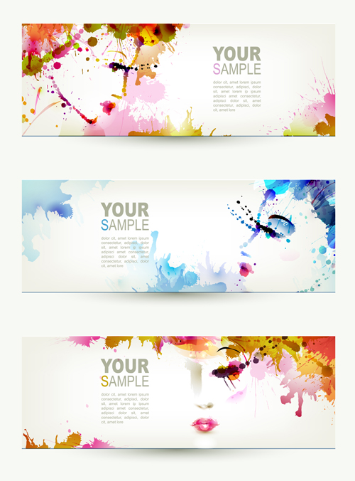 500x676 Watercolor Floral Girls Banner Vector 02 Free Free Download
