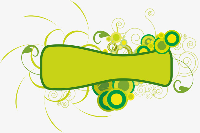 650x434 Abstract Green Floral Banner Vector Material, Abstract Vector