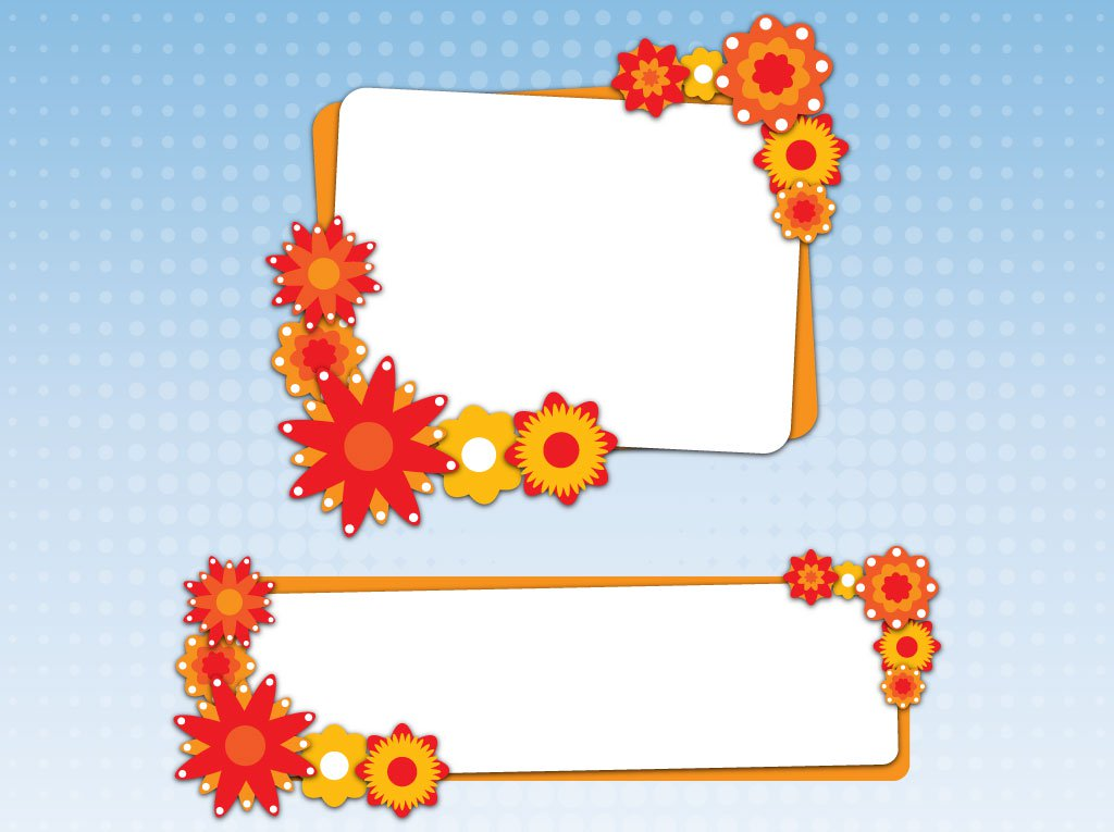 1024x765 Autumn Floral Banners Vector Art Amp Graphics