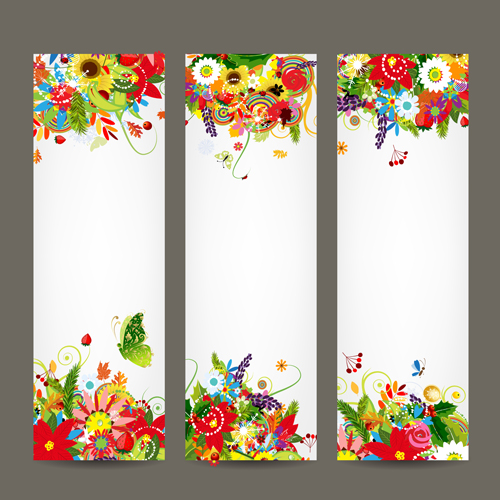 500x500 Beautiful Floral Banner Vector 01 Free Download
