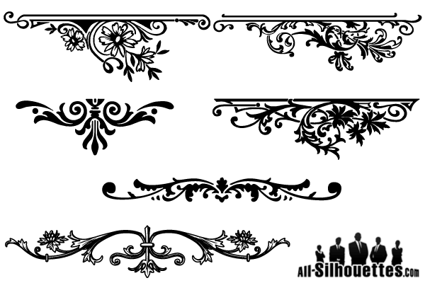 600x400 Antique Floral Borders Vectors Download Free Vector Art
