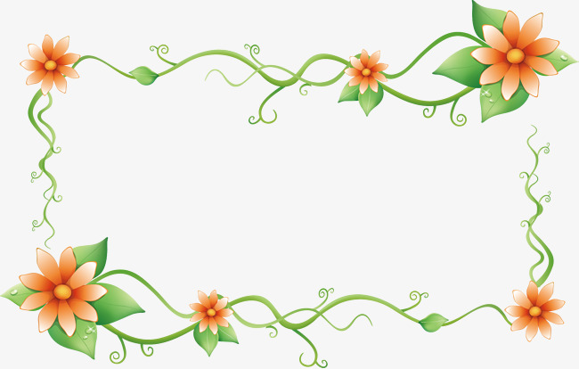 650x414 Vector Flower Border, Vector Borders, Four Corners Border, Four