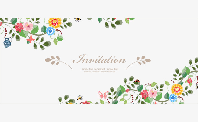 650x400 Vector Fresh Flowers Border Material, Flower Border, Vector Floral
