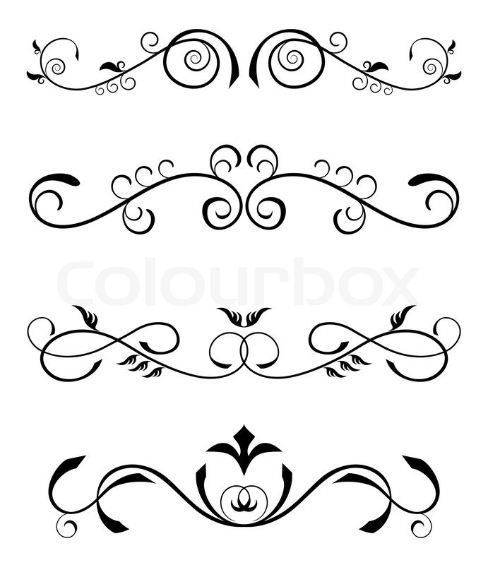 691x800 Vintage Floral Borders Stock Vector Colourbox