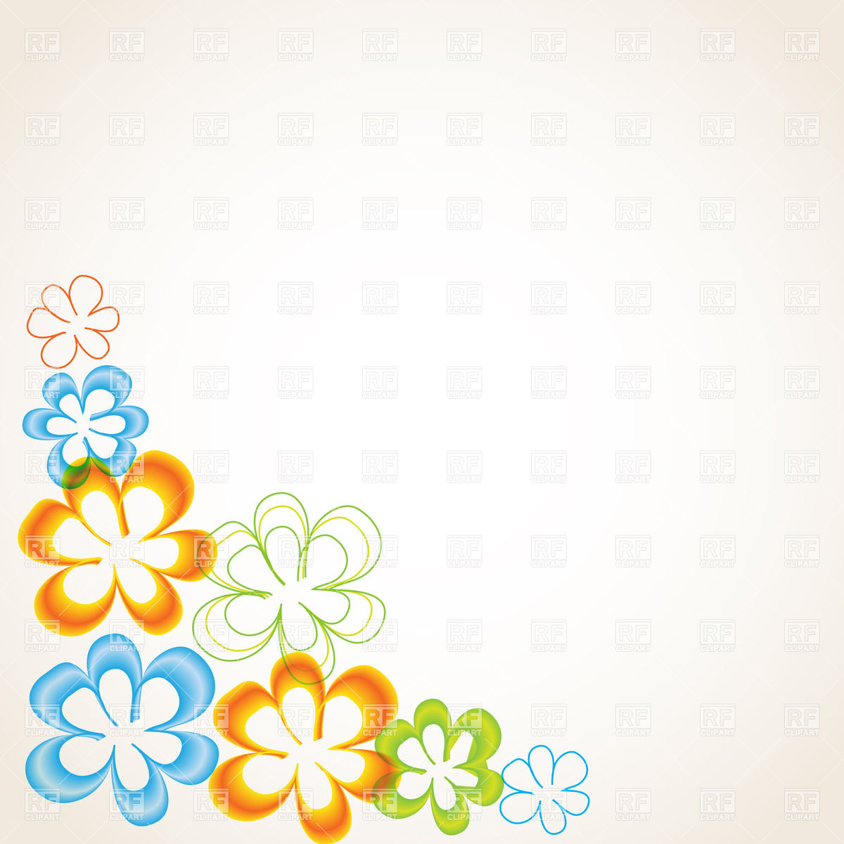 1200x1200 Greeting Card With Stylized Floral Corner Vector Image Vector