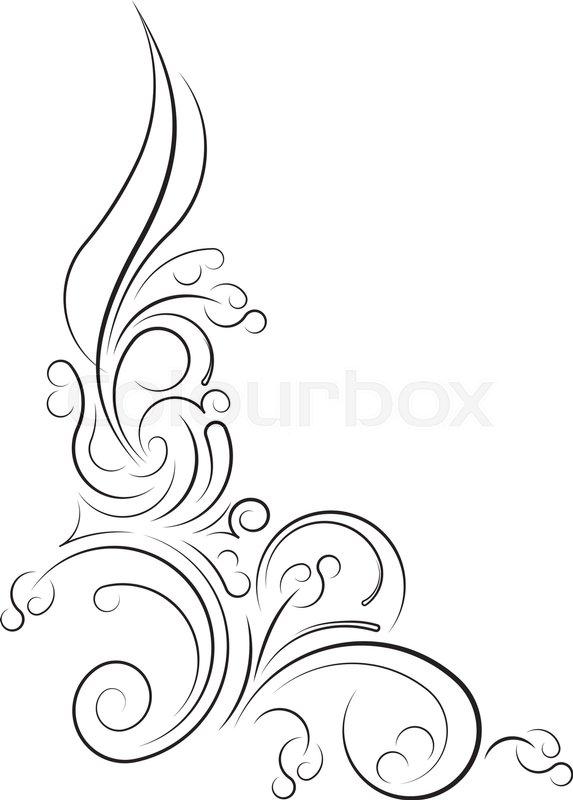 573x800 Ornamental Floral Corner. Vector Illustration For Your Design Or