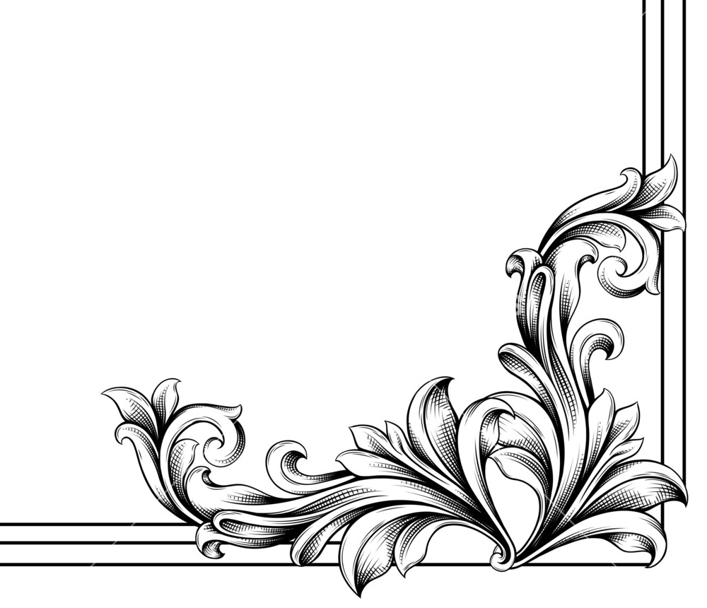 Floral Corner Vector at GetDrawings com | Free for personal use