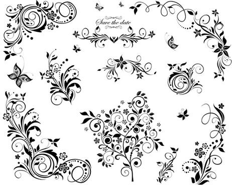 462x368 Black Floral Corner Design Free Vector Download (15,196 Free