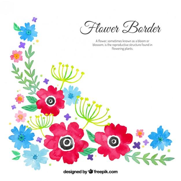 626x626 Watercolour Floral Corner Vector Free Download
