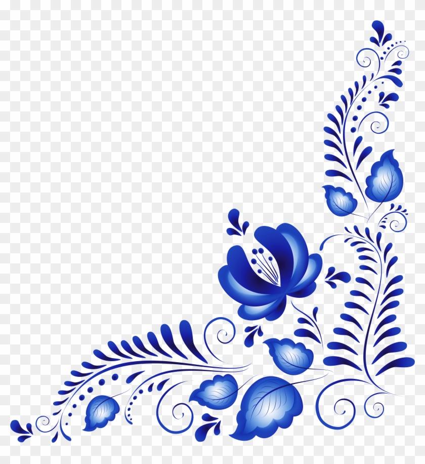 840x916 Blue Flower Clip Art
