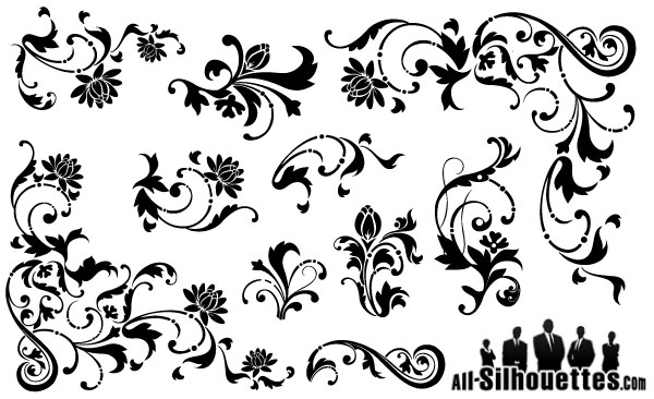 600x366 Free Graphics Vintage Vector Flowers And Floral Ornament Sets