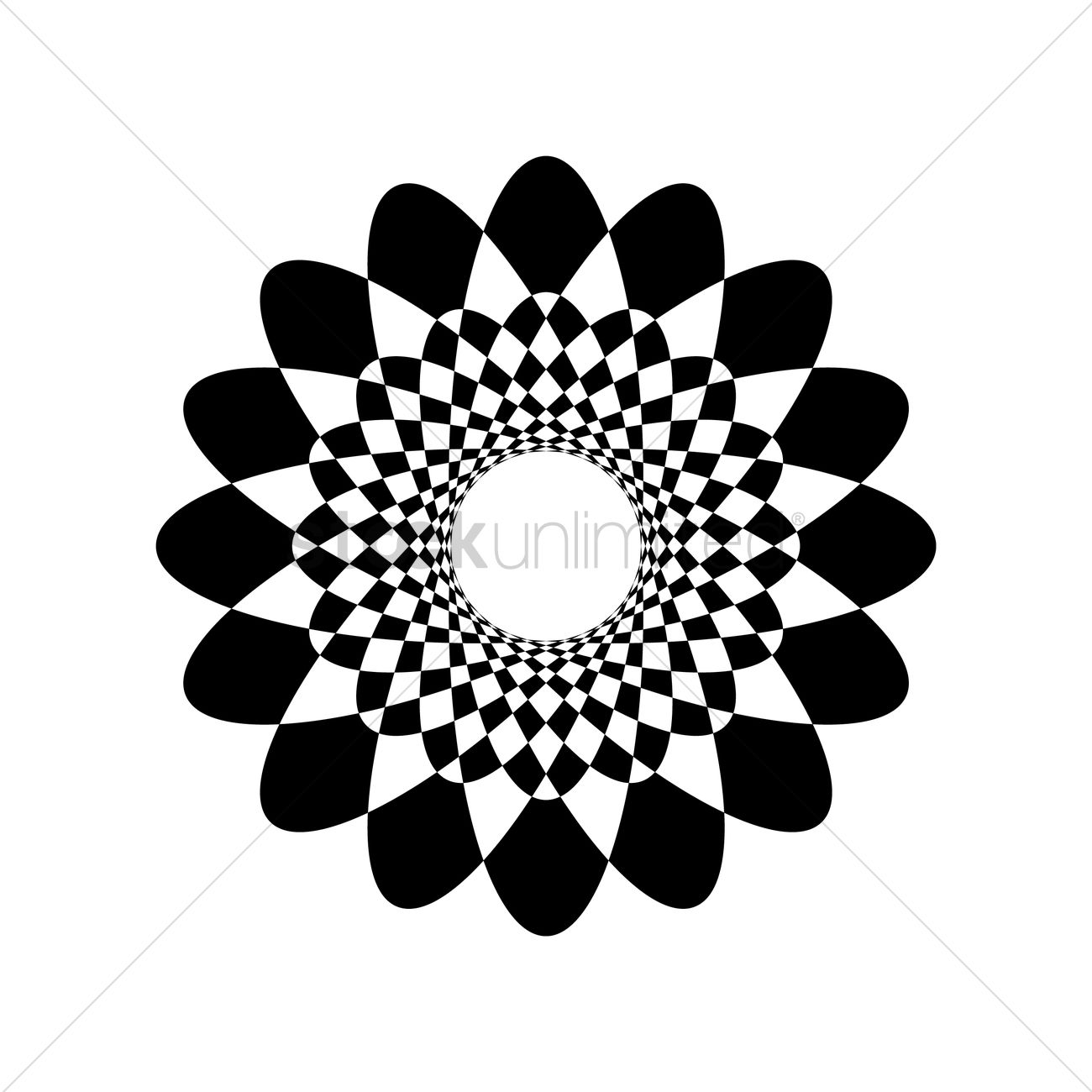 1300x1300 Geometrical Floral Design Vector Image