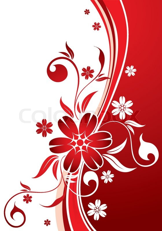 560x800 Floral Background With Wave Pattern, Element For Design, Vector