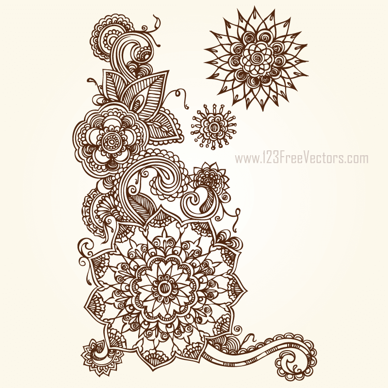 800x800 Floral Vector Eps Free Download 123freevectors
