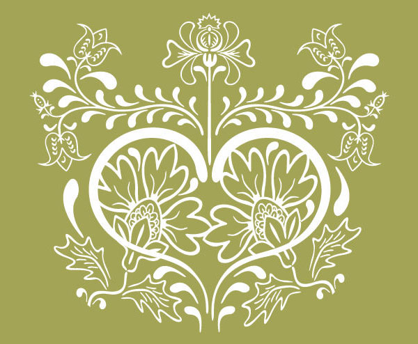 600x494 Free Graphics Vintage Vector Flowers And Floral Ornament Sets