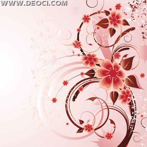 500x500 Free Vector Pink Background Rose Flower Illustration Design