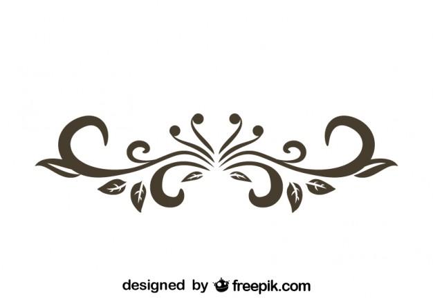 626x438 Retro Floral Decorative Text Divider Design Vector Free Download