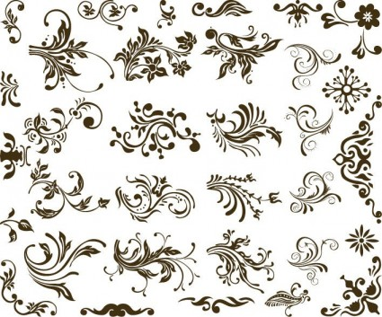 425x353 Set Of Vector Floral Design Vector Free Vector Download In .ai