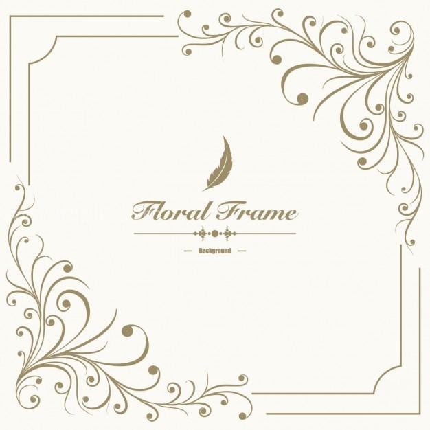 626x626 Vector ] Floral Frame Background Free Download