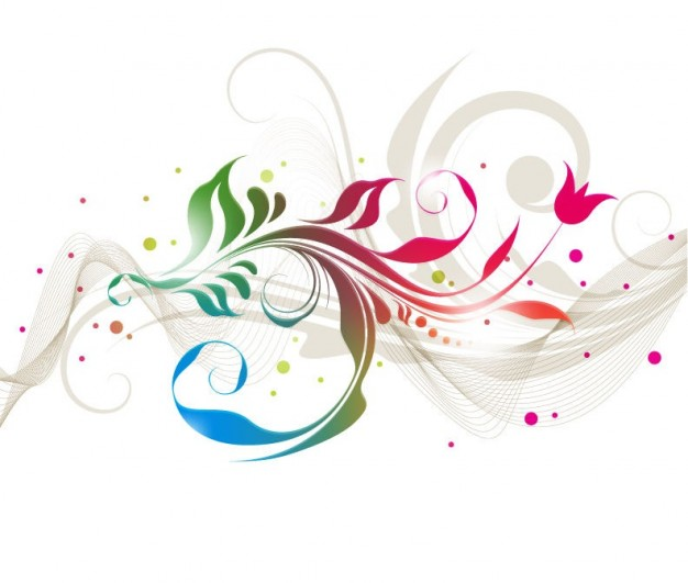 626x531 Colorful Floral Designs Vector Graphic Vector Free Download