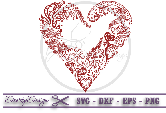 581x396 Abstract Floral Heart, Vector Graphics